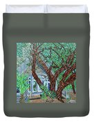Bald Head Island, Village Chapel Duvet Cover
