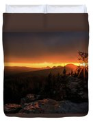 Bald Mountain Sunset Duvet Cover