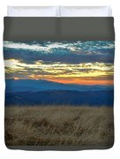 Bald Mountain Sunset Duvet Cover