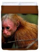 Bald Uakari Monkey Duvet Cover
