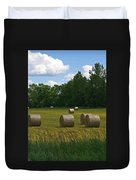 Bales In The Field Duvet Cover