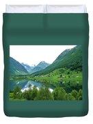 Balestrand Lake Village Duvet Cover