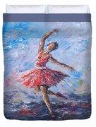 Ballet Dancer Duvet Cover