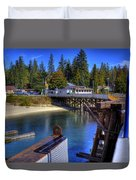Balfour Bc Docks And Ferry  Duvet Cover