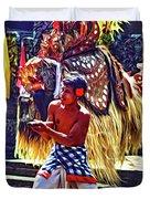 Bali Barong And Kris Dance  - Paint Duvet Cover