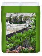 Bali Lady Fountain Duvet Cover