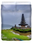 Bali Lake Temple Duvet Cover