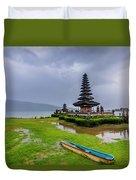 Bali Lake Temple Duvet Cover