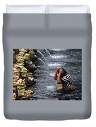 Bali Temple Fountain Cleansing Duvet Cover
