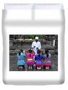 Bali Temple Women Blessing Duvet Cover