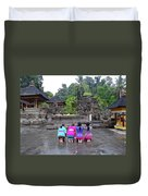 Bali Temple Women Bowing Duvet Cover