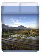 Bali Terrace Rice Field Duvet Cover