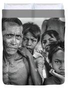 Balinese Gothic Bw Duvet Cover