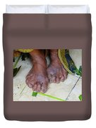 Balinese Lady's Feet Duvet Cover