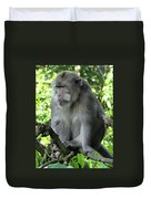 Balinese Monkey In Tree Duvet Cover
