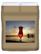 Balinese Sunset With Red Drink Duvet Cover