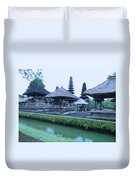 Balinese Temple By The Water Duvet Cover