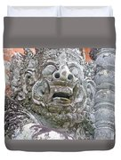 Balinese Temple Guardian Duvet Cover