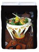 Balinese Traditional Dinner Basket Duvet Cover