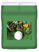 Balinese Traditional Lunch Duvet Cover