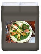 Balinese Traditional Satay Dinner Duvet Cover