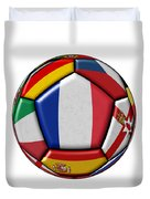 Ball With Flag Of France In The Center Duvet Cover