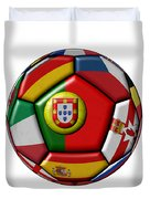 Ball With Flag Of Portugal In The Center Duvet Cover