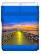 Ballast Point Sunrise - Tampa, Florida Duvet Cover