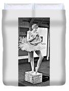 Ballerina B W Duvet Cover