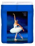 Ballerina On Stage L A Nv Duvet Cover