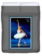Ballerina On Stage L A With Alt. Decorative Ornate Printed Frame.  Duvet Cover