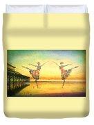 Ballet At The Pier Duvet Cover