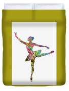 Ballet Dancer-colorful Duvet Cover