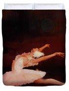 Ballet Dancer In White  Duvet Cover