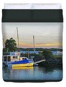 Ballina Boats Duvet Cover