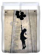 Ballons Girl Duvet Cover