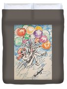 Balloon Flight  Duvet Cover
