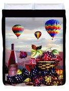 Balloon Ride At Dawn Duvet Cover