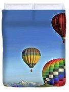 Ballooning Above Longs Peak Duvet Cover