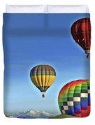 Ballooning Above Longs Peak Duvet Cover