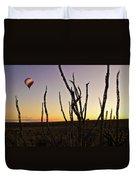 Ballooning At Sunset Duvet Cover