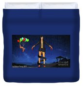 Balloons And Surrealism Duvet Cover