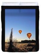 Balloons At Sunrise Duvet Cover