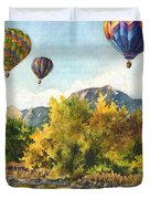 Balloons At Twin Lakes Duvet Cover