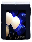 Balloons Of Blue And White Duvet Cover