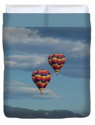 Balloons Over The Rockies Duvet Cover