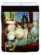 Balls Of Cloth Strips In Basket Duvet Cover
