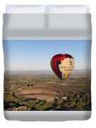 Baloon Riding  Over Temecula Ca Duvet Cover