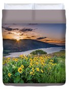 Balsamroot At Sunrise Duvet Cover