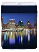 Baltimore Blue Hour Duvet Cover